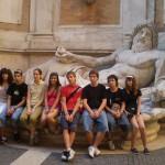 Diante de Marforio, nos Museos Capitolinos