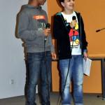 Dous dos presentadores: Nicolas Escourido Breogan Fernández