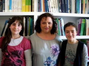 Elvira Martín Carmona e as súas entrevistadoras