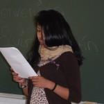 Encontro de Elvira Martín Carmona co alumnado de primeiro curso