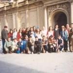 Foto de grupo na prazo do Pilar en Zaragoza