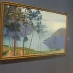 A vista da ría de Mera, de Francisco Lloréns