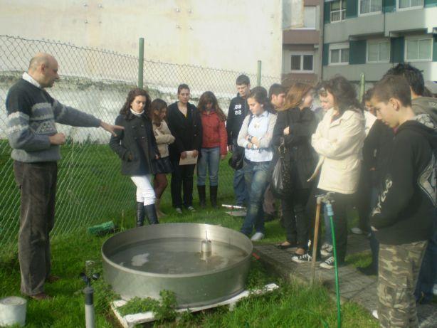 Medindo a evapotranspiración, no Centro Meteorolóxico da Coruña