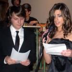Os presentadores: Manuel Pereiro e Saray Rodríguez