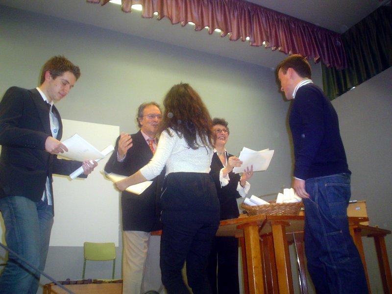 a entrega de diplomas