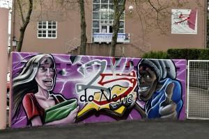 Miguel Golmayo crea o mural do 25 aniversario