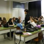 Nunha clase de Español cos alumnos húngaros