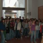 Todo o grupo de intercambio o día da recepción no Neira Vilas