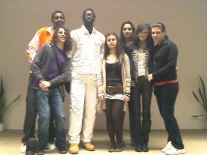 Issa Ndiaye e alumnos de 3º A ESO