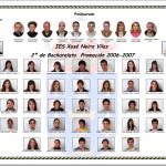 Alumnado de 2º de Bacharelato. Promoción 2006-2007