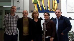 Visita da agregada cultural da embaixada francesa