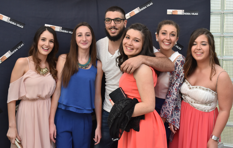 Irea, Maite, Tiago, Nuria, Laura e Dámaris